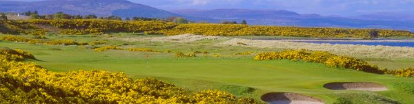 Royal Dornoch Championship Golf course, Luxury barge Golf cruises on Scottish Highlander, Loch Ness and Caledonian Canal, Scotland