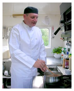 GoBarging chef Andrew Hurley