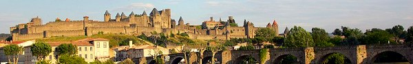 The Medieval walled city of Carcassonne, part of the French Odyssey on Anjodi