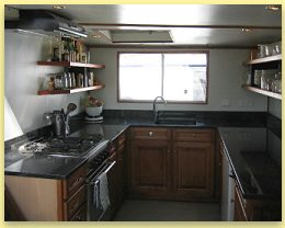Anjodi's new Galley, Canal du Midi, South of France