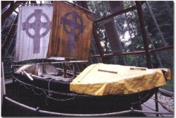Replica of the boat used by St Brendan