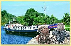 Gus and Ben on the Scottish Highlander, Caledonian canal and Loch Ness, Scotland