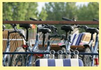 L'Impressionniste's Mountain bikes, ready for use