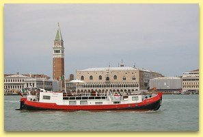 La Dolce Vita cruises past   Venice and the famous Piazza San Marco with its Campanile bell tower