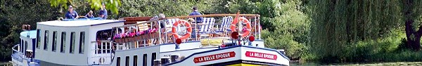 Luxury barge cruising in Burgundy aboard La Belle Epoque, France
