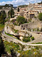 The Cathar village of Minerve