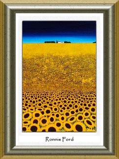 Ronnie Ford - Contemporary Scottish Artist (not actual frame)