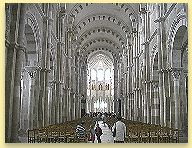 inside Vezelay Cathedral in Burgundy